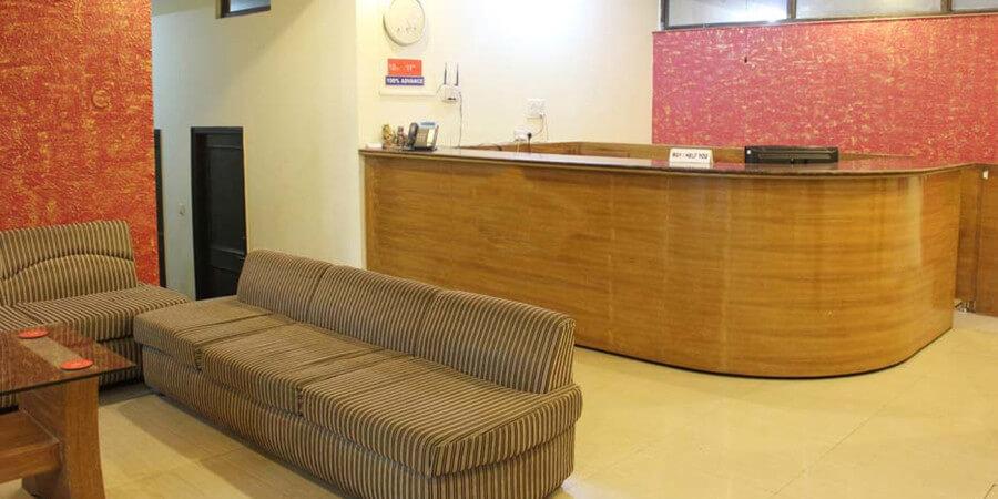 reception desk of rishikesh yog darshan
